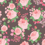 Floral bouquet seamless pattern. Flower posy background. Floral Stock Photos