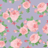 Floral bouquet seamless pattern. Flower posy background. Floral Royalty Free Stock Photography