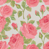 Floral bouquet seamless pattern. Flower posy background. Ornamental texture with flowers roses. Flourish tiled wallpaper royalty free illustration