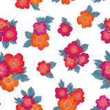 Floral bouquet seamless pattern. Flower posy background. Royalty Free Stock Photo