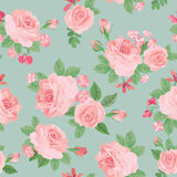 Floral bouquet seamless pattern. Flower rose background. Royalty Free Stock Images