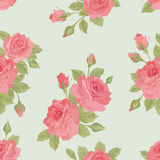 Floral bouquet seamless pattern. Flower rose background. Stock Images
