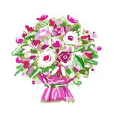 Floral bouquet, sketch for your design Royalty Free Stock Images