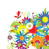 Floral bouquet, summer Stock Image