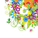 Floral bouquet, summer illustration Royalty Free Stock Photos