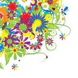 Floral bouquet, summer illustration Stock Photos
