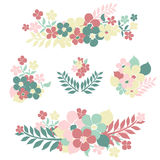 Floral bouquets Royalty Free Stock Photos