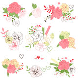 Floral bouquets Royalty Free Stock Photography