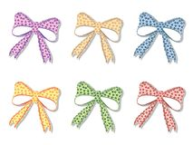 Floral bows set Royalty Free Stock Image