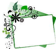 Floral boxed interface Stock Photography