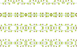 Floral branch border Stock Photography