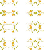 Floral branch elements Stock Photography