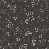 Floral branch seamless pattern Stock Image