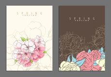 Bright floral cover template Stock Photo