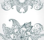 Floral bright  doodle illustration Royalty Free Stock Images