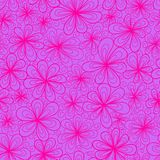 Floral bright pattern. Stylized colorful flowers vector seamless pattern Royalty Free Stock Photography