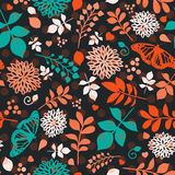 Floral bright seamless pattern with flowers Stock Photo