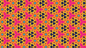 Floral bright vector pattern in spring colors. Vector seamless pattern of colorful beautiful pink and orange geometric flowers. suitable for Fabric, textile and royalty free illustration