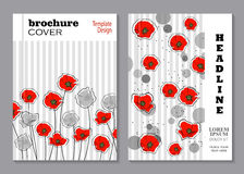 Floral brochure cover design Stock Image