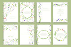 Floral Brochure Design Templates Stock Images
