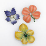 Floral Brooches Royalty Free Stock Images