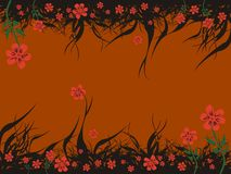 Floral brown background Royalty Free Stock Photo