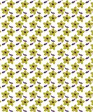 Floral Brown Biscuit Seamless Pattern For Fabrics vector illustration