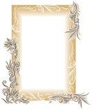 floral brun de cadre Images stock