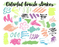 Floral brush strokes vector illustration Royalty Free Stock Photo