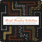 Floral brushes collection Stock Photos
