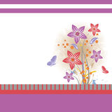 Floral background  isolated on white Stock Photos
