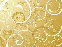 Floral bubble gold Royalty Free Stock Photo