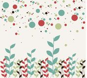 Floral and bubbles background Royalty Free Stock Photo