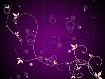 Floral And Bubbles Background Means Decorative Stem And Leaves Royalty Free Stock Images