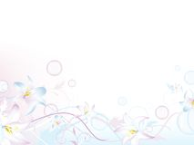 Floral bubbly decoration Royalty Free Stock Images