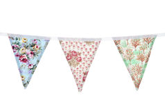 Floral bunting. Studio cut out Royalty Free Stock Image