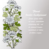 Floral bush retro on white background , hand drawn decorat Stock Photo