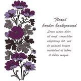 Floral bush retro on white background , hand drawn decorat Stock Image