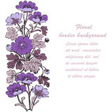 Floral bush retro on white background , hand drawn decorat Royalty Free Stock Photography
