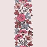 Floral bush retro on white background , hand drawn decorat Stock Images