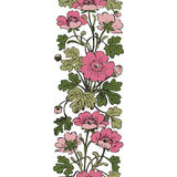 Floral bush retro on white background , hand drawn decorat Stock Photos