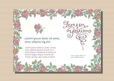 Floral busines card. Seamless texture is complete Stock Photos