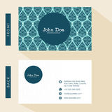 Floral business card design. Royalty Free Stock Photo