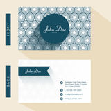 Floral business card design. Stock Image