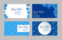 Floral business card set Stock Photography