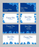 Floral business card set Royalty Free Stock Photos