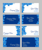 Floral business card set Stock Photo