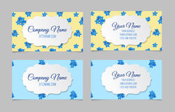 Floral business card set Royalty Free Stock Photo