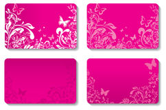 Floral business cards Stock Image