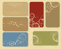 Floral business cards Stock Images